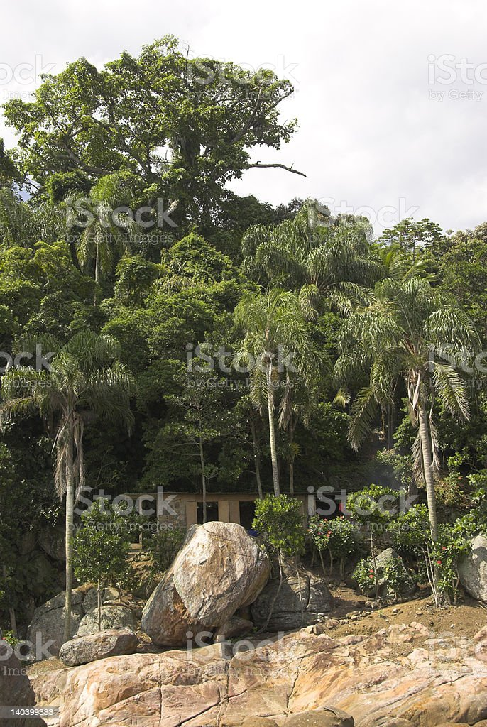 House om an island in the shadow royalty-free stock photo