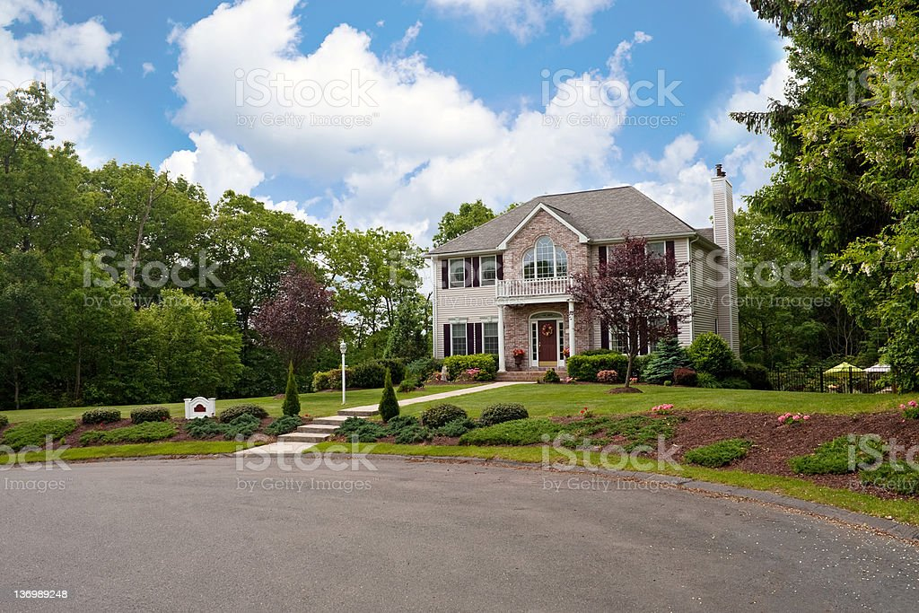 House On a Culdesac royalty-free stock photo
