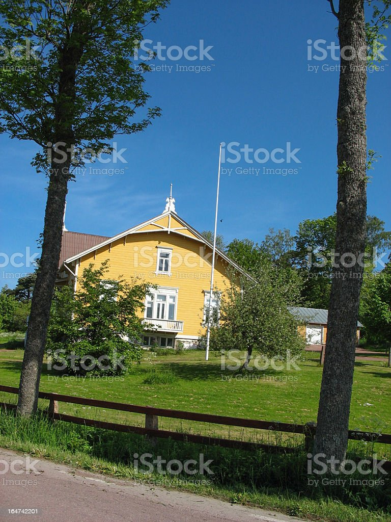 House on Aland island royalty-free stock photo