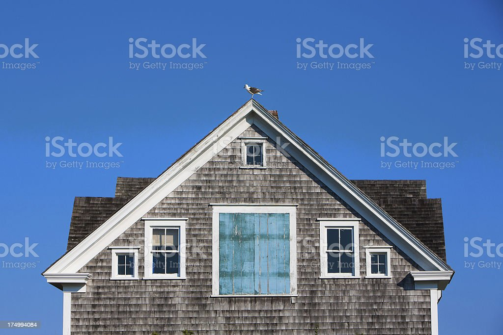 House on Block Island stock photo