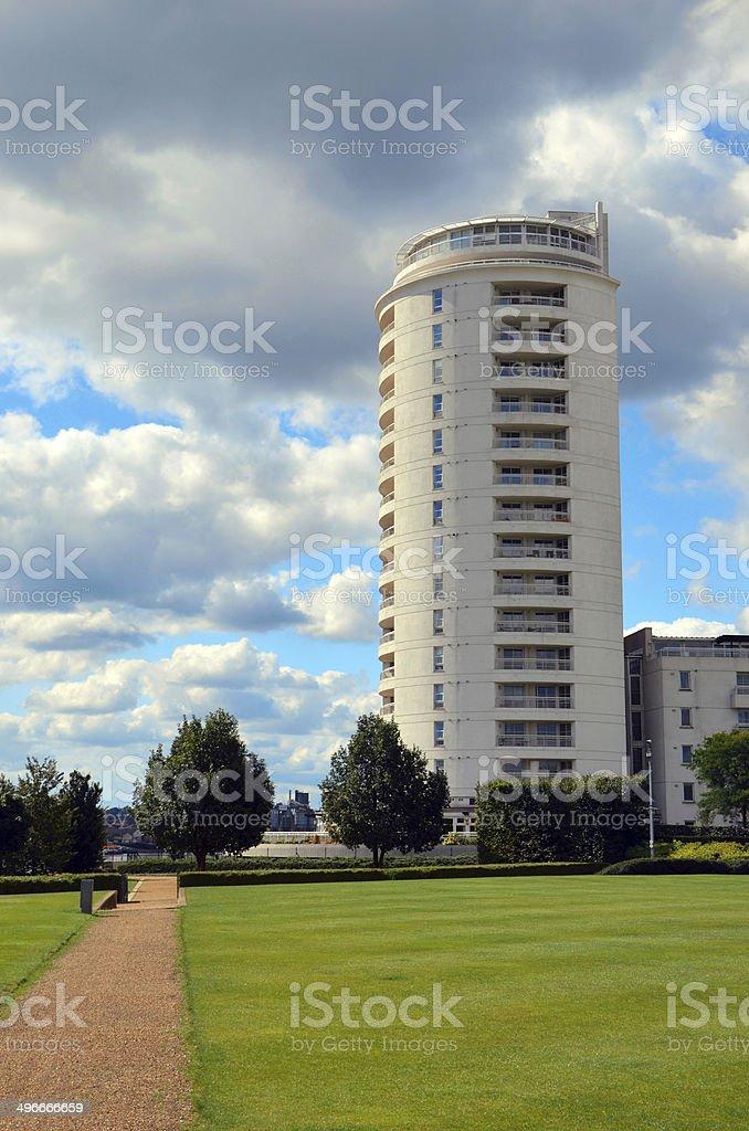 House on blue sky stock photo