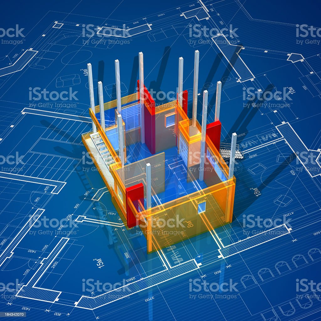 House On Construction royalty-free stock photo