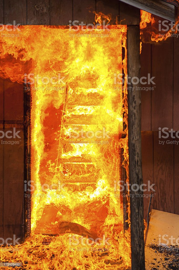 House on Fire Burning royalty-free stock photo
