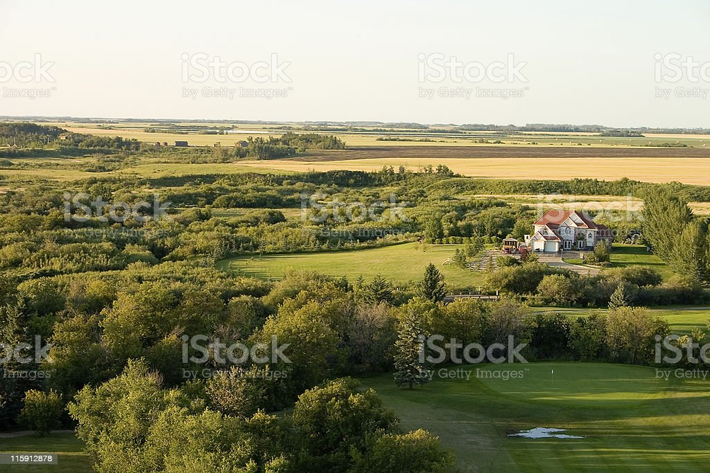House on golf course royalty-free stock photo