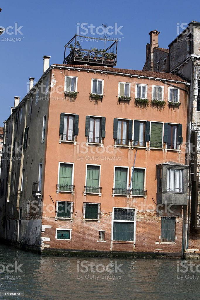 House on Grand Canal Venice Italy royalty-free stock photo