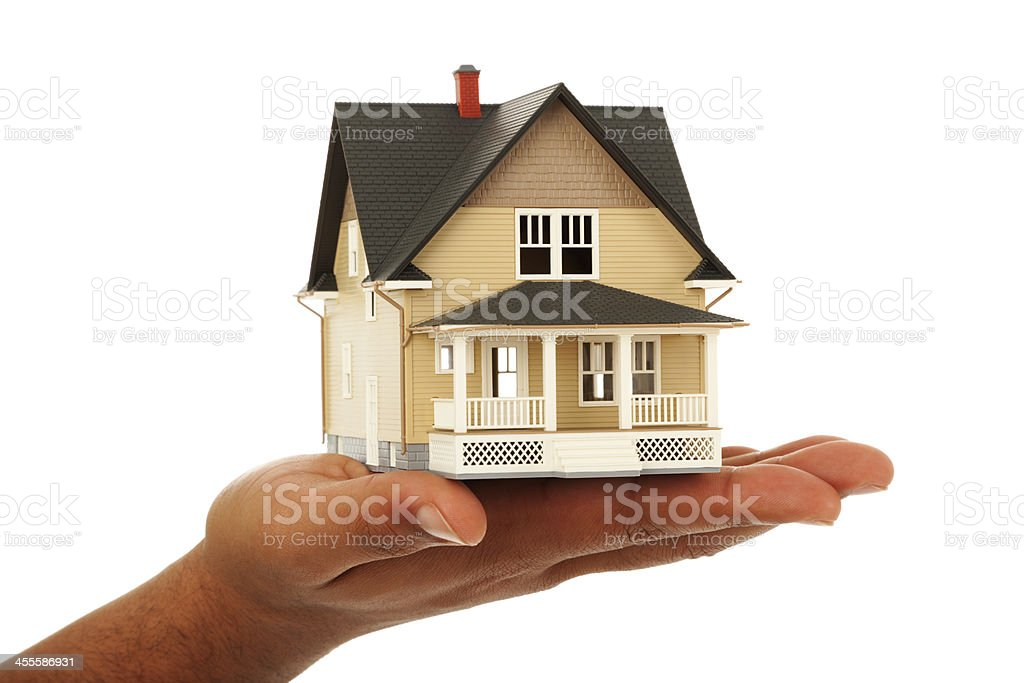 House on hand stock photo