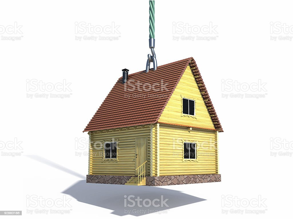 house on  hook vector art illustration