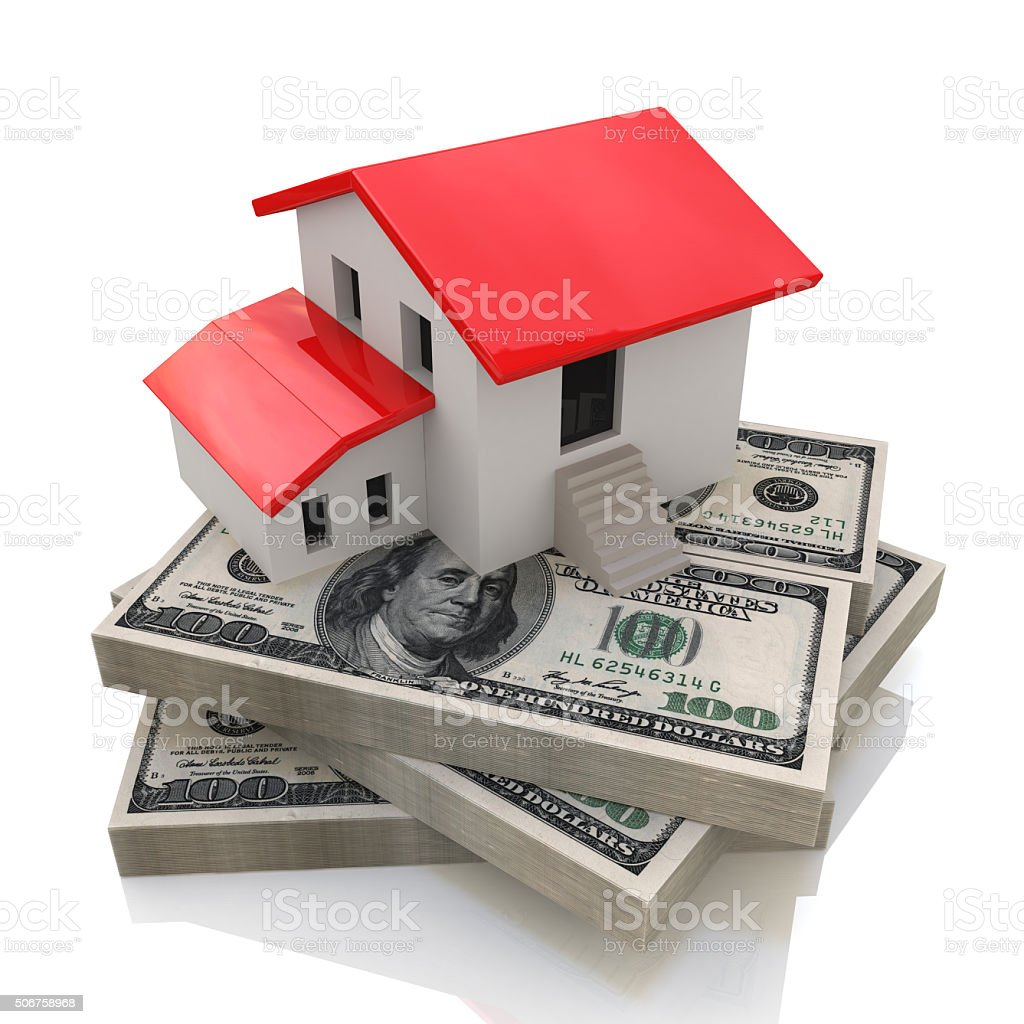 House on money stock photo