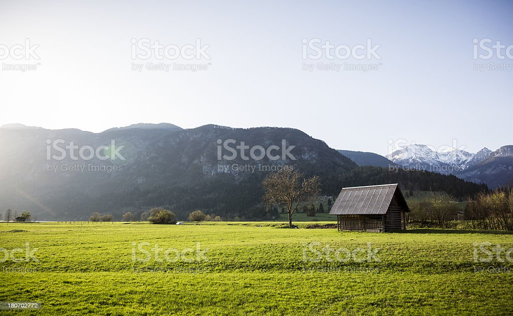 House on mountain royalty-free stock photo