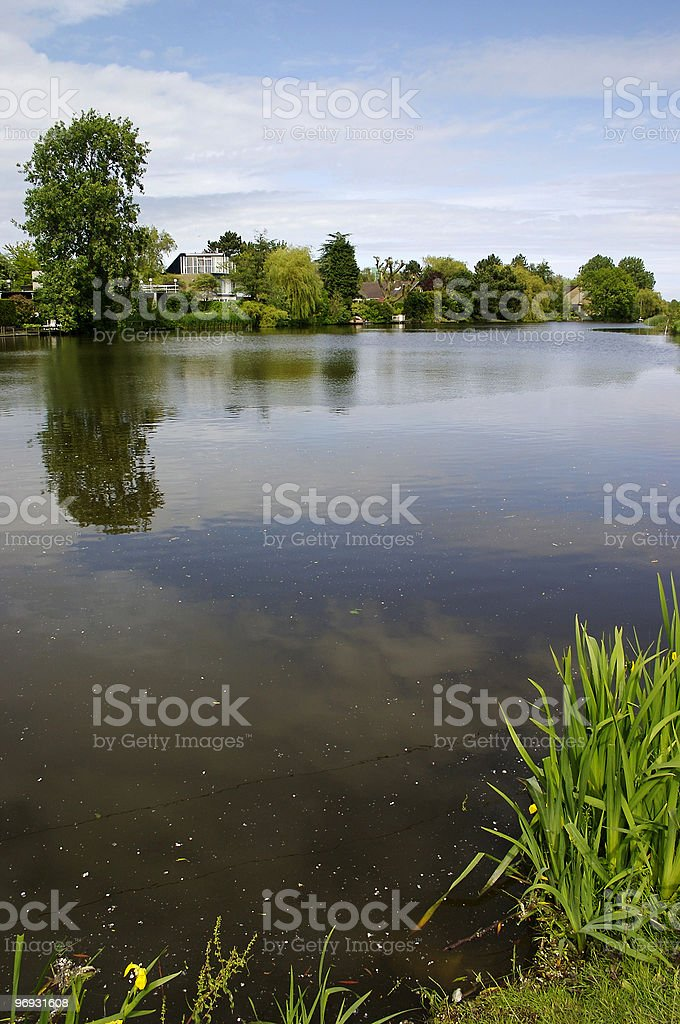 House on pond royalty-free stock photo