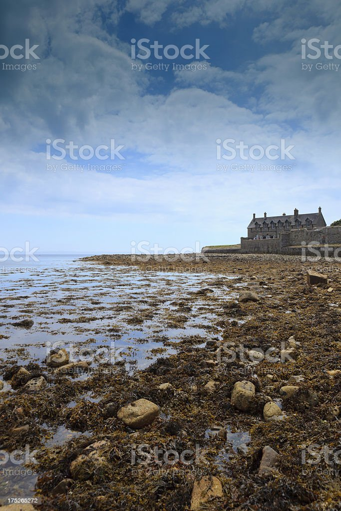 house on St. Michael's Mount royalty-free stock photo