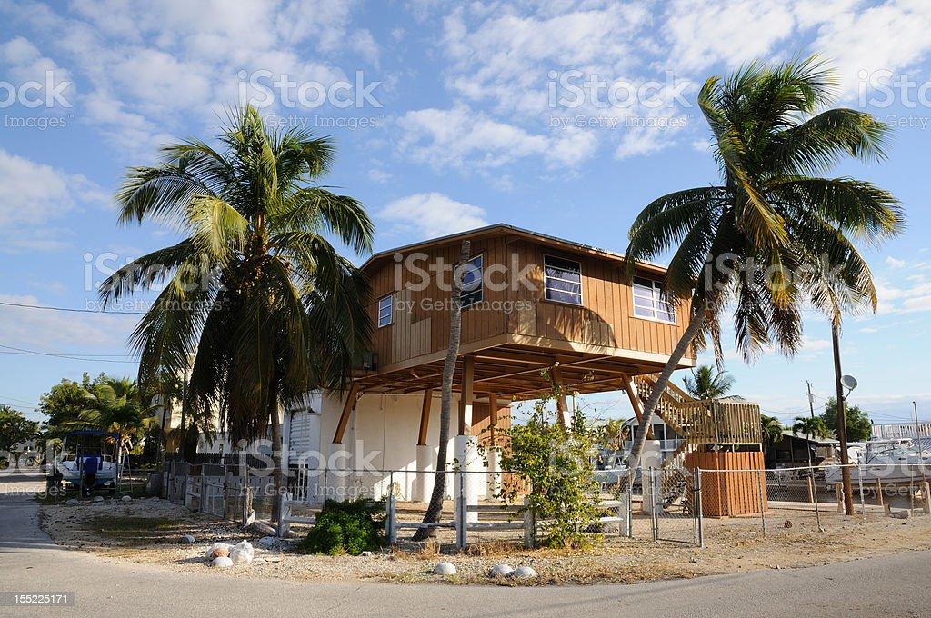 House on stilts stock photo