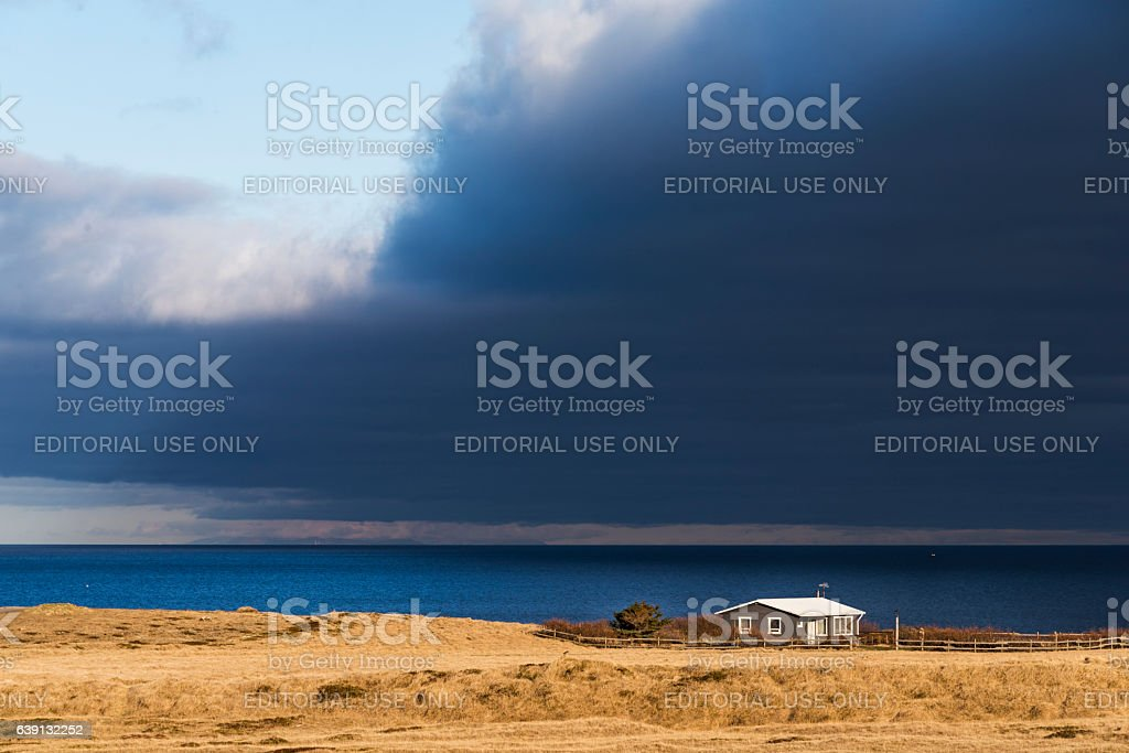 House on the Coast stock photo