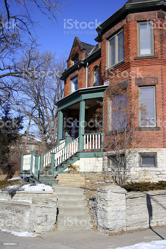 House on the Corner stock photo