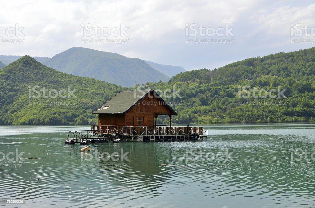 House on the Drina stock photo