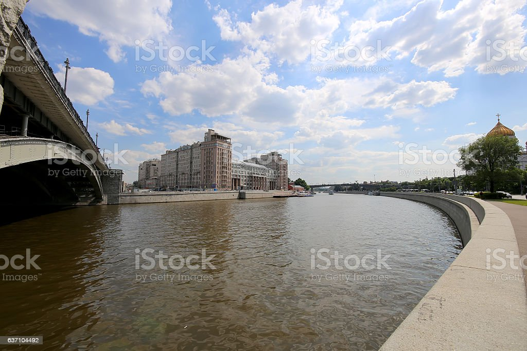 House on the Embankment . Center of Moscow, Russia stock photo