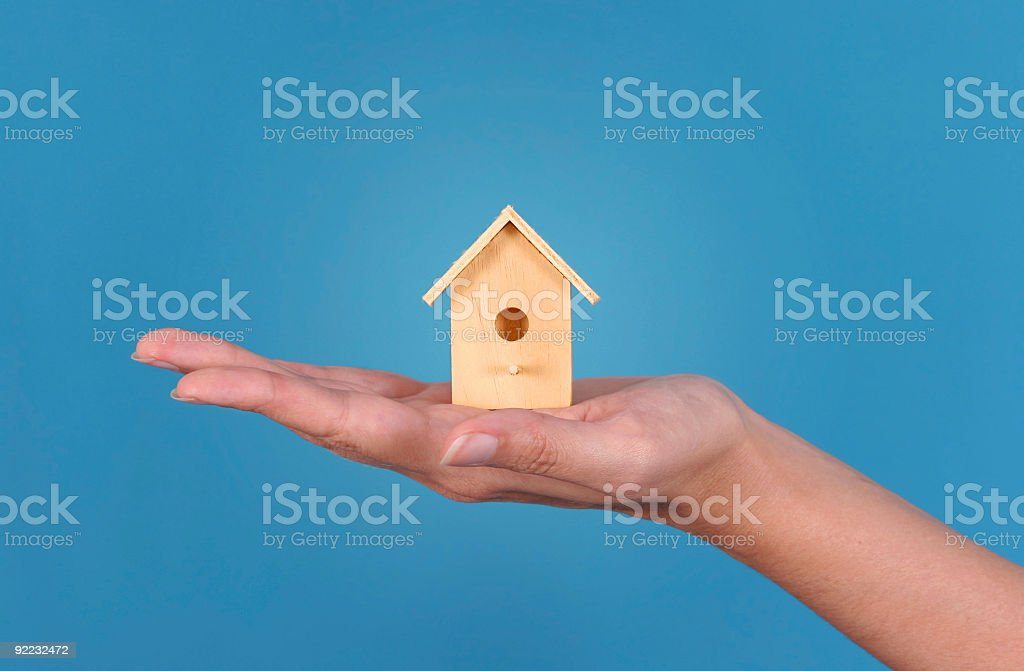 House on the hand royalty-free stock photo