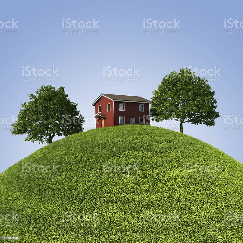 House on the hill royalty-free stock photo