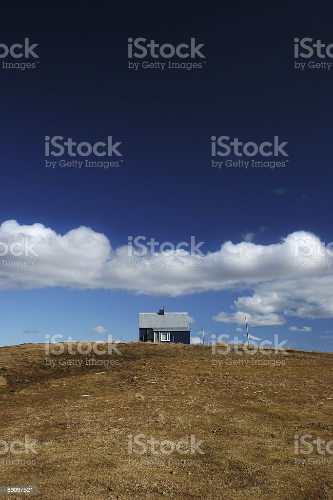 House on the hill stock photo