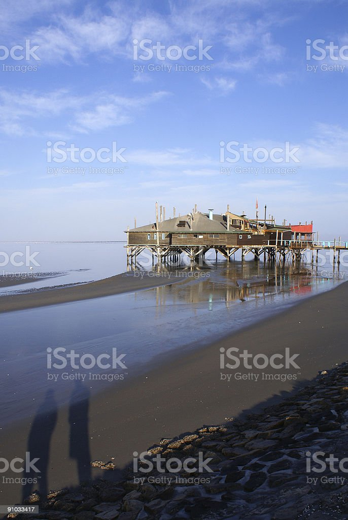 House on the Lagoon stock photo