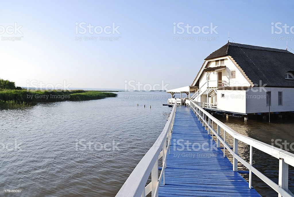 House on the lake royalty-free stock photo