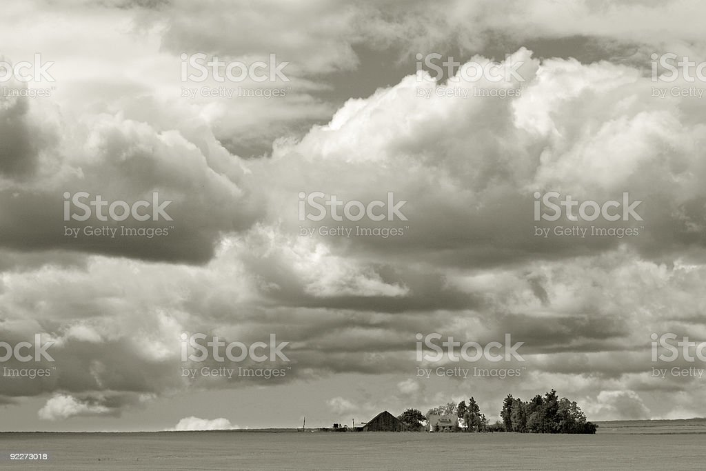 House on the Plains stock photo