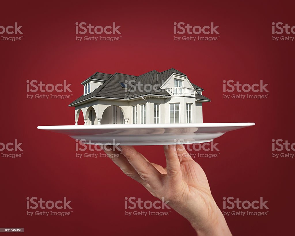 House on the Plate royalty-free stock photo