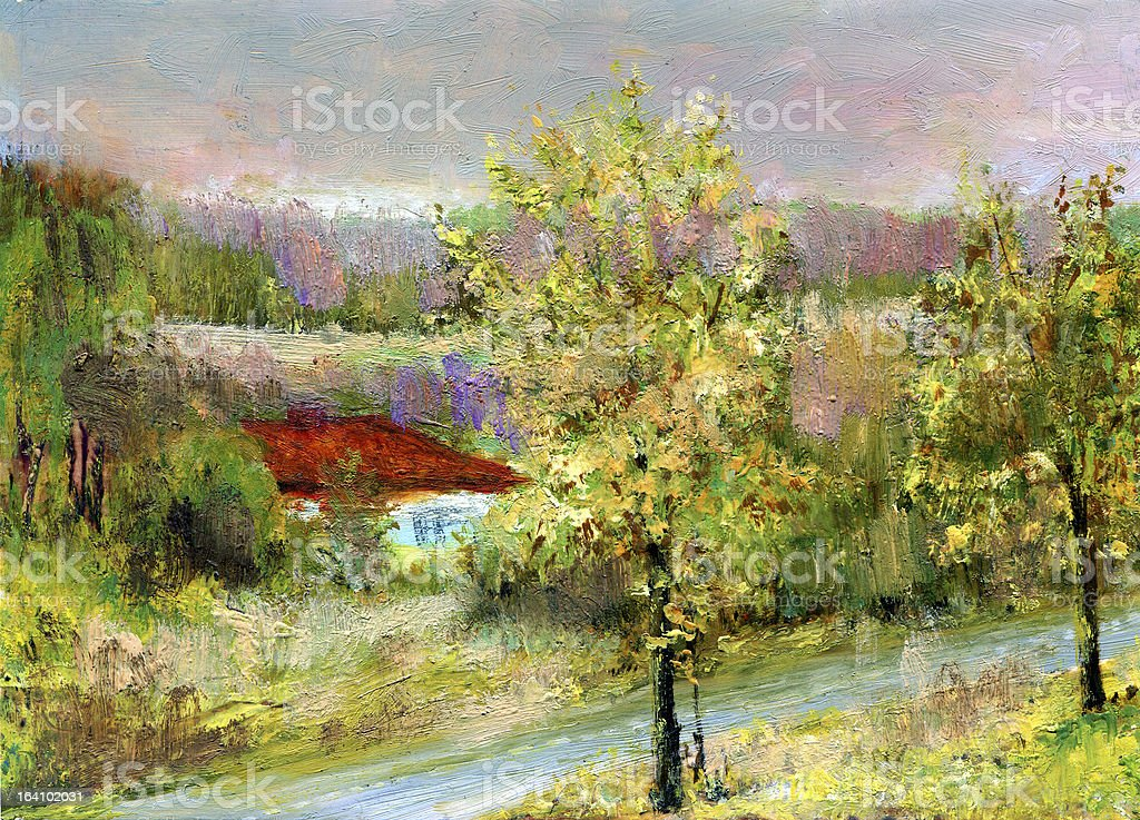 house on the river royalty-free stock photo