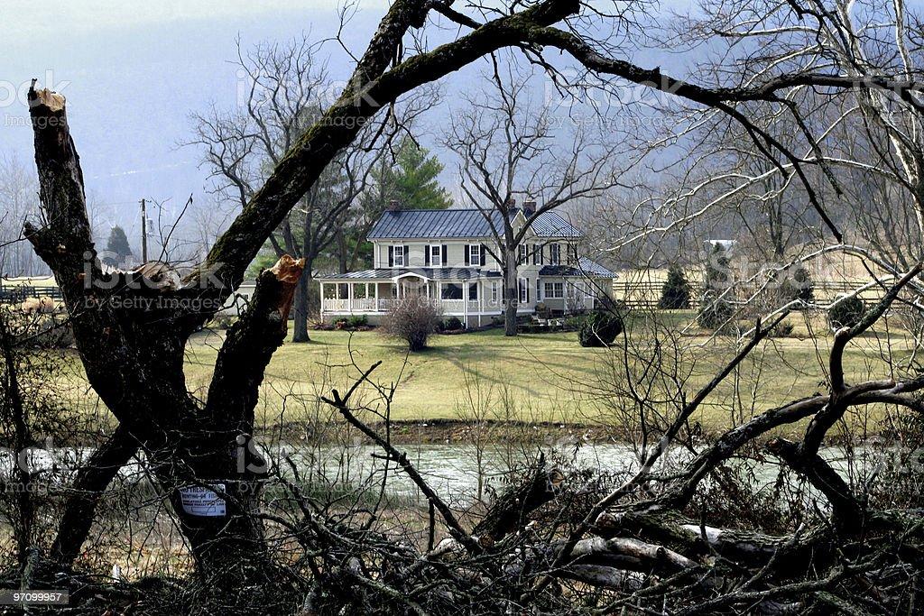 House on the Shenandoah River stock photo