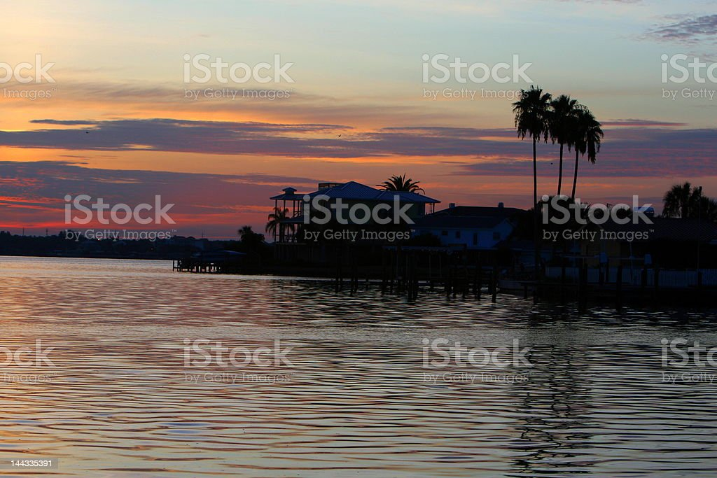 house on the water royalty-free stock photo