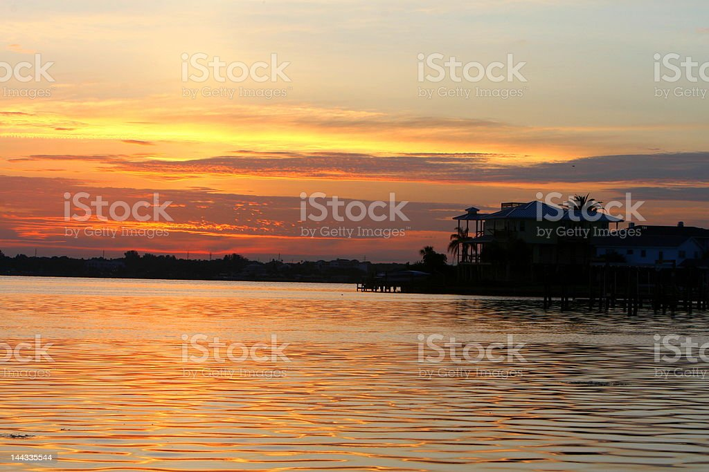 house on thw water royalty-free stock photo