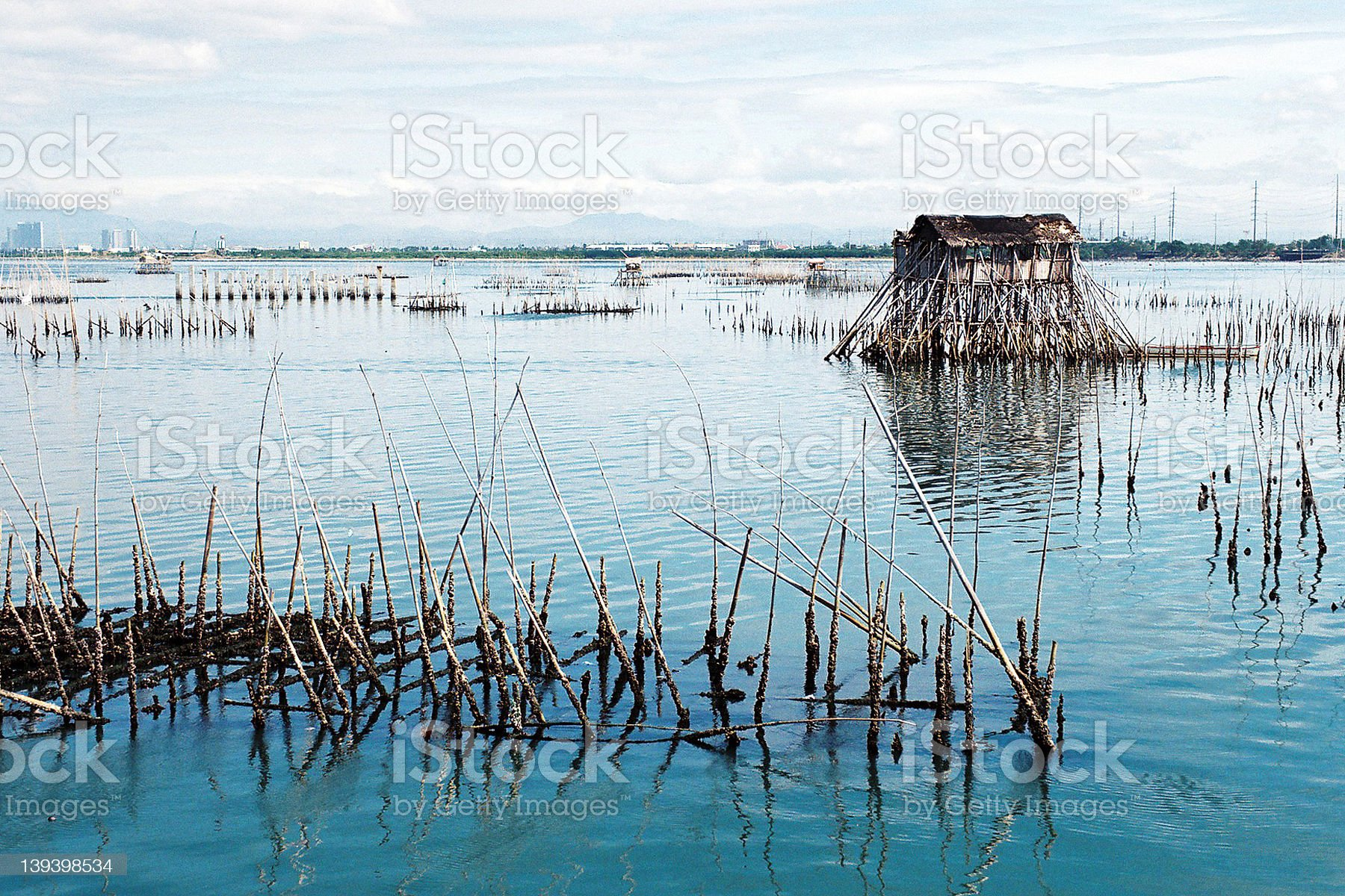 house on water royalty-free stock photo