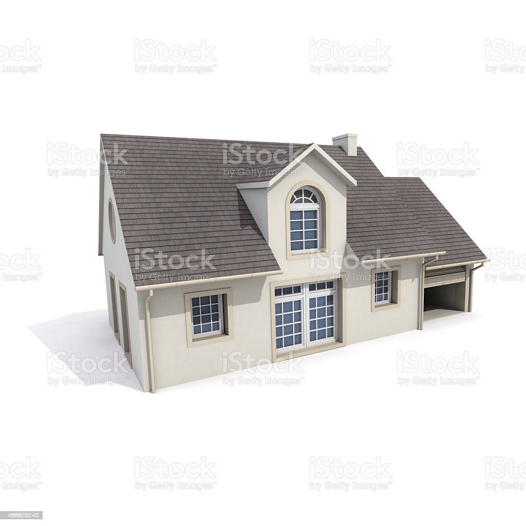 house on white background stock photo