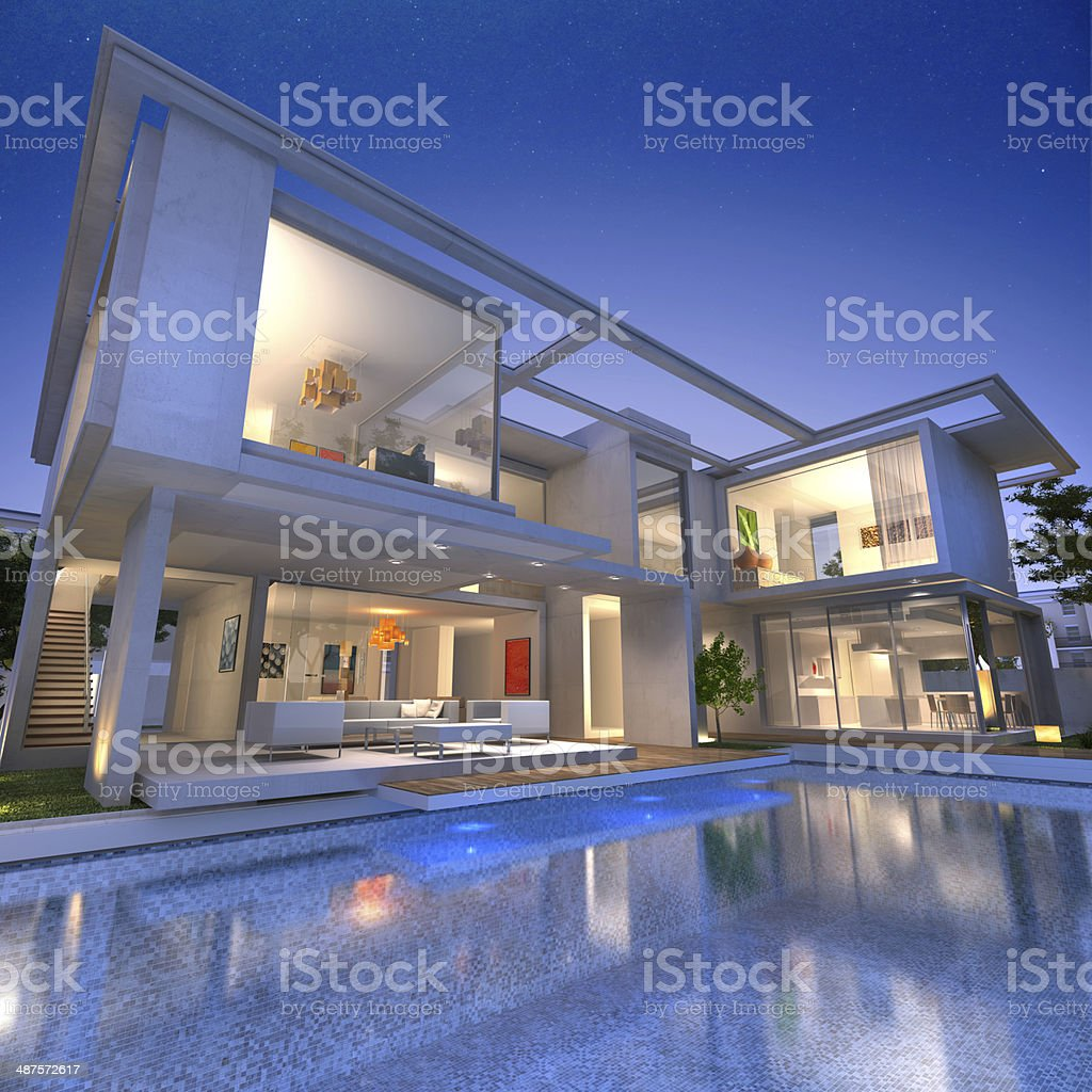 house open bunker pool stock photo