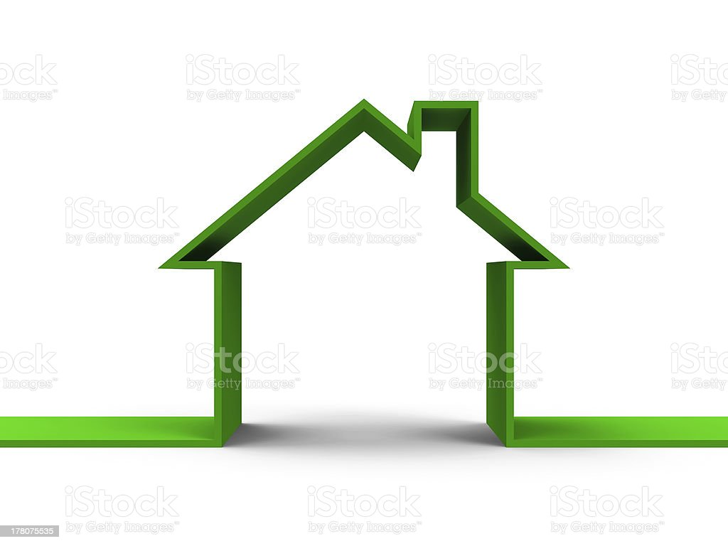 House outline concept royalty-free stock photo