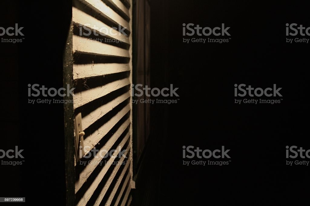 House outside at night stock photo