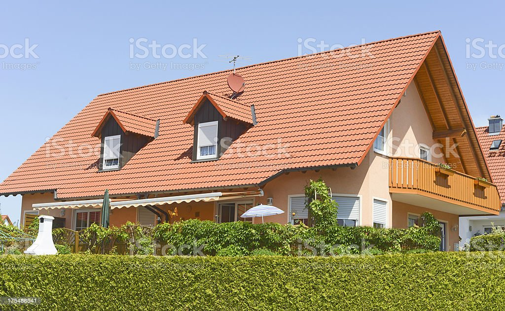 house over the hedge royalty-free stock photo
