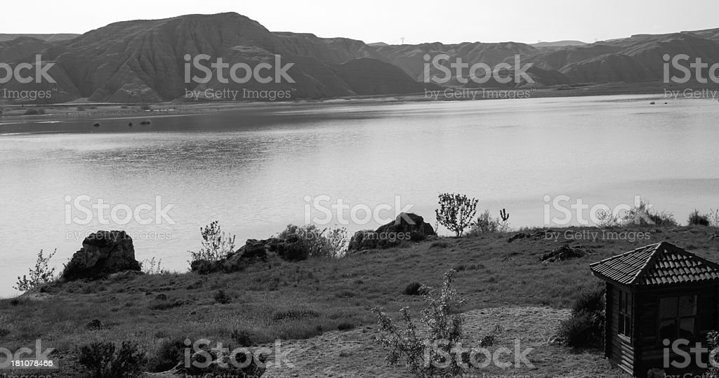 House Overooking a lake royalty-free stock photo