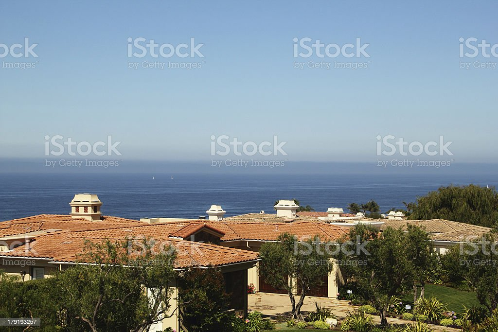 House Pacific Ocean Palos Verde stock photo