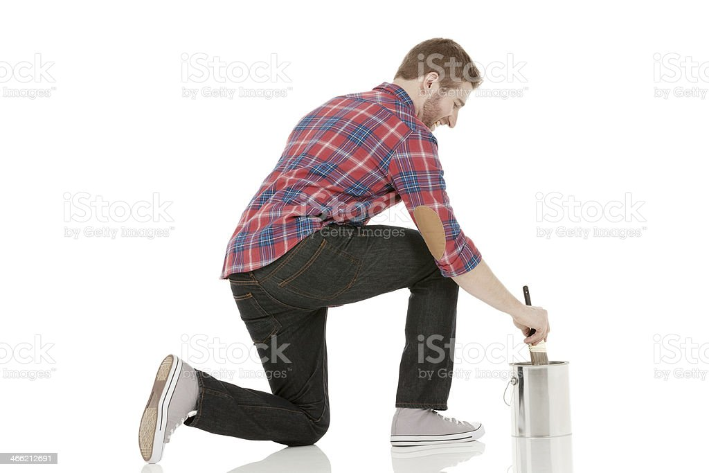 House painter at work royalty-free stock photo