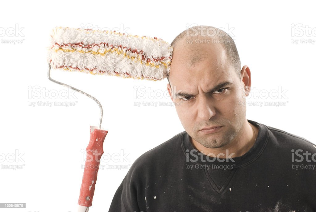 house painter stock photo