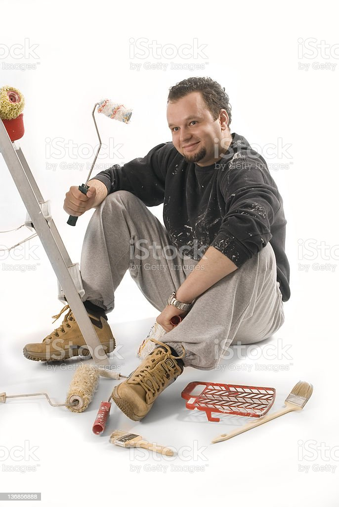 house painter royalty-free stock photo
