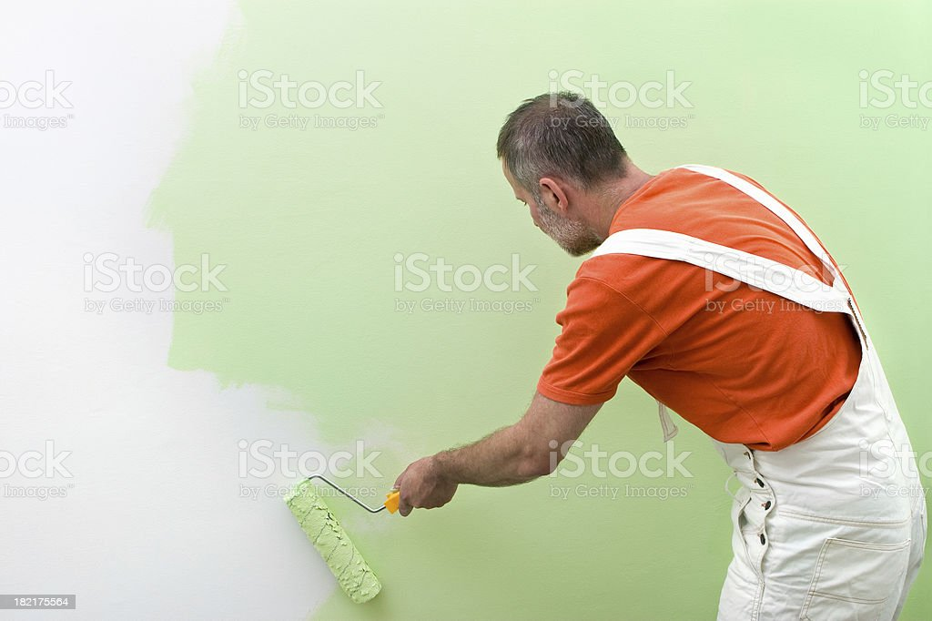 House painter. royalty-free stock photo