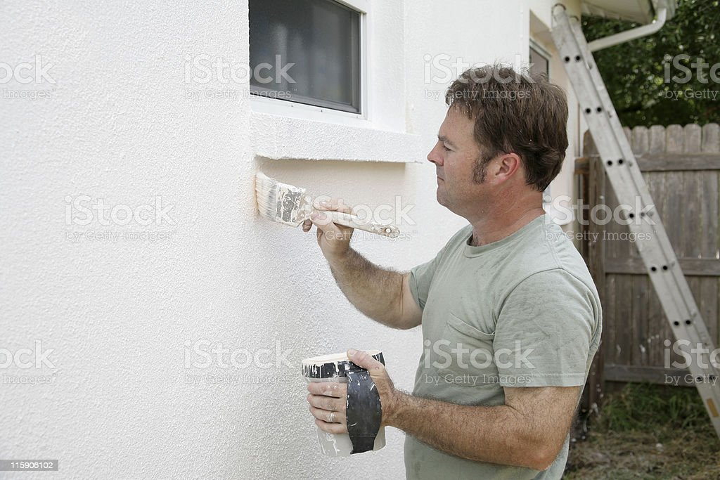 House Painter Working royalty-free stock photo