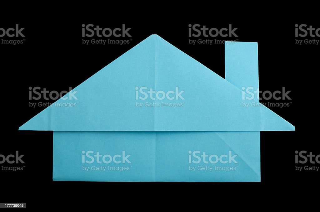 House paper made folded origami style royalty-free stock photo