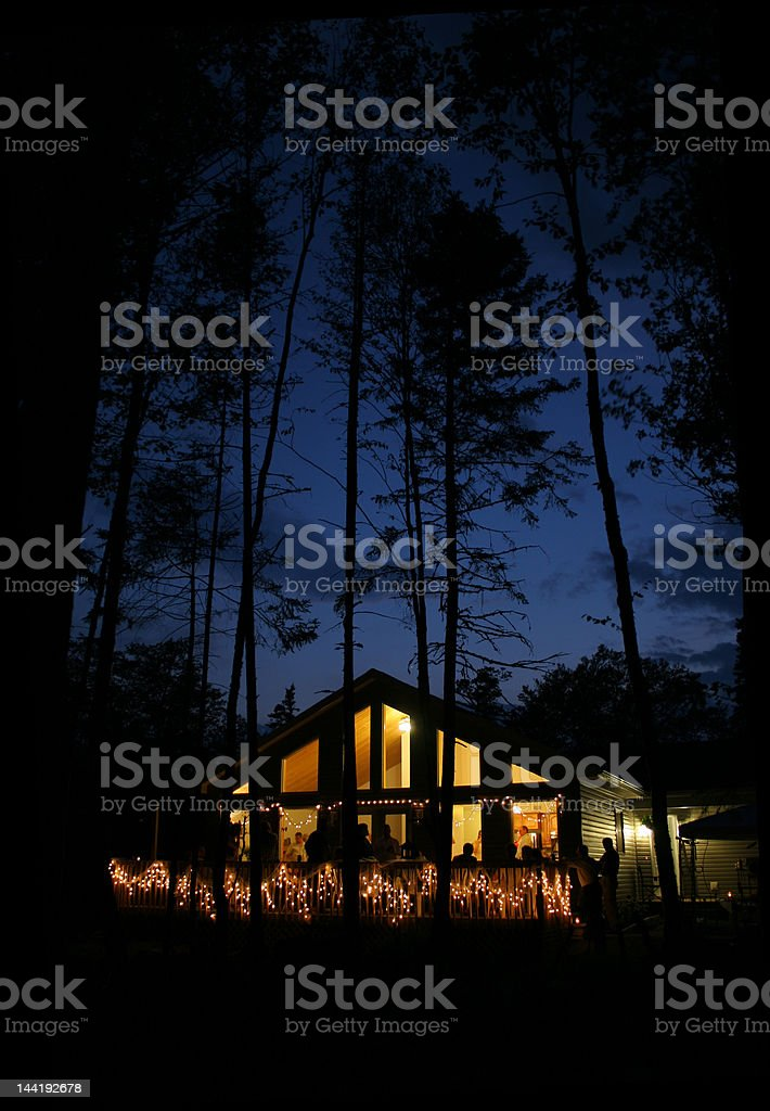 House Party at Night royalty-free stock photo