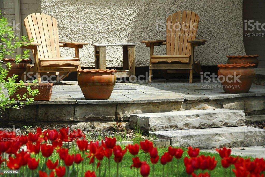 House patio royalty-free stock photo