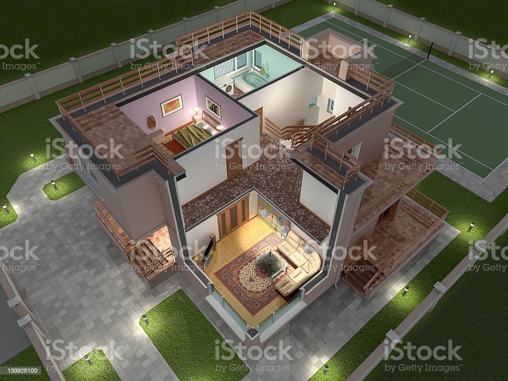House. stock photo