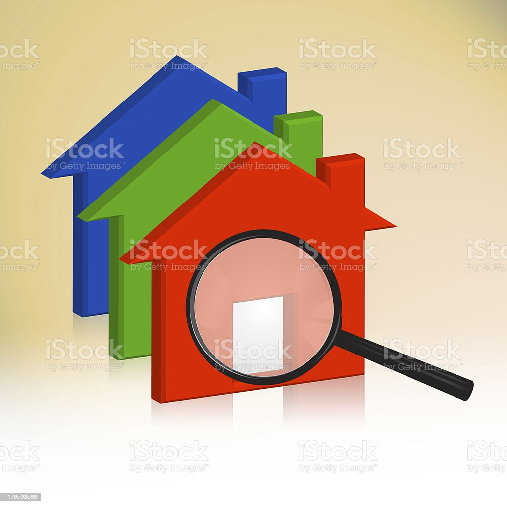 RGB house royalty-free stock photo