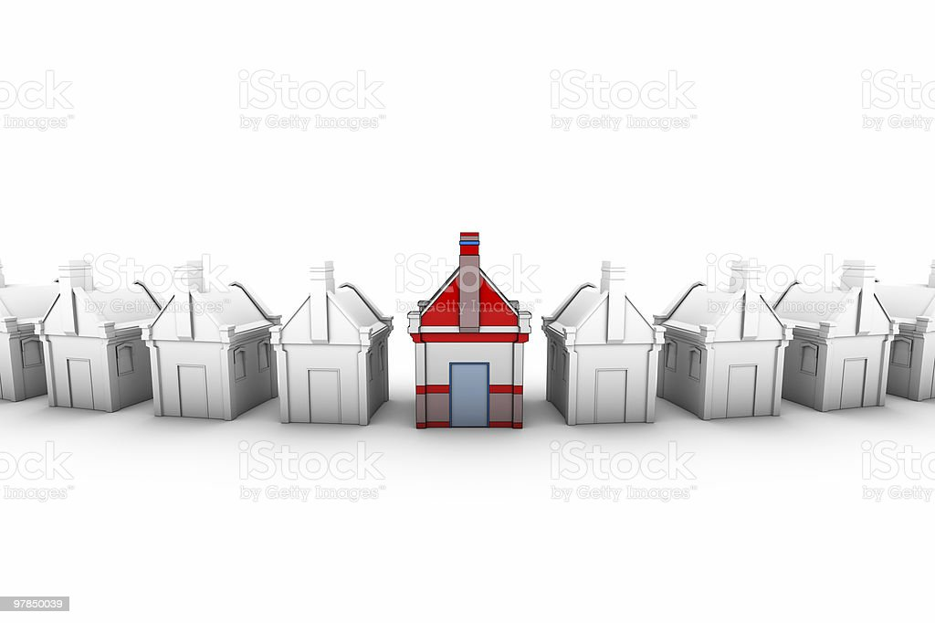 3D House royalty-free stock photo